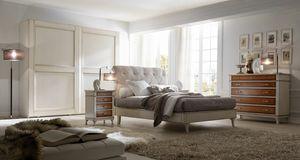 Senza Tempo letto, Cama para habitaciones de estilo clásico.