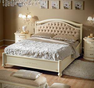 Siena cama acolchada, Cama de estilo clásico