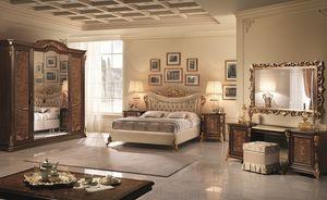 Sinfonia cama tapizada, Tapizado acolchado cama doble, con espiral sinuosa