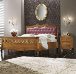 Traforo cama acolchada, Cama con cabecero tapizado