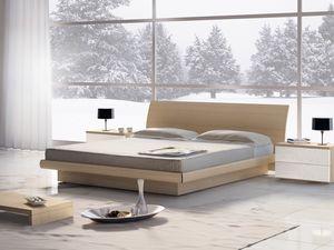 Cama Design 06, Cama doble de madera con el almacenamiento