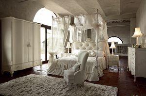 Doge cama, Cama con dosel, con diseño tradicional