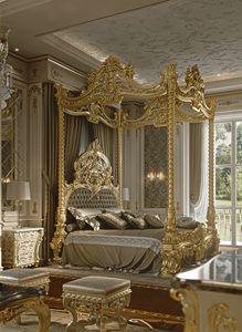 M05 Cama con dosel, Preciosa cama con dosel