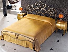 Arabesco, Hecho a mano de hierro cama doble, líneas sinuosas