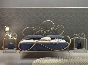 Blues cama de matrimonio, Cama de hierro clásico para el dormitorio elegante