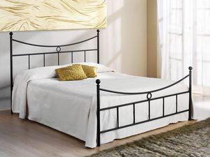 Gabbiano Double Bed, Cama con cabecero de hierro, para hoteles y casas