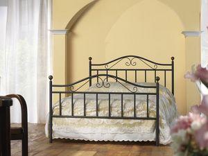Giulia 120, Cama clásica en hierro, para el dormitorio tradicional
