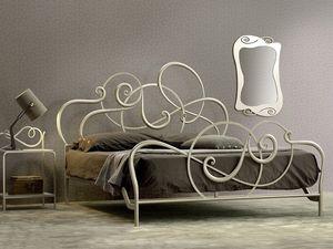 Jazz cama de matrimonio, Cama de hierro, hecho a mano, diseño suave