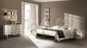 Klimt cama, Cama en hierro elaborado, hecho a mano, para hoteles