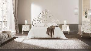 Pascià letto, Cama de hierro plana, disponible en varios tamaños, para los hoteles