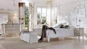 Sirolo letto, Cama de hierro, alambre de soldadura, diferentes acabados, hoteles