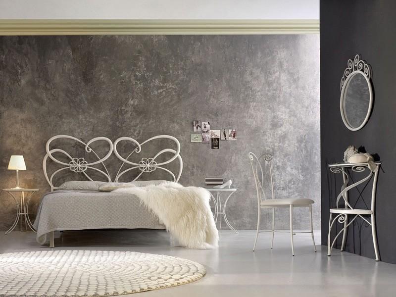 El hierro forjado cama doble, con un estilo moderno | IDFdesign