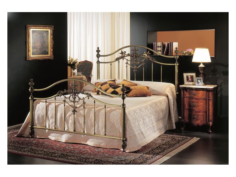 Cama doble Classic en bronce latón, para habitación del hotel ...