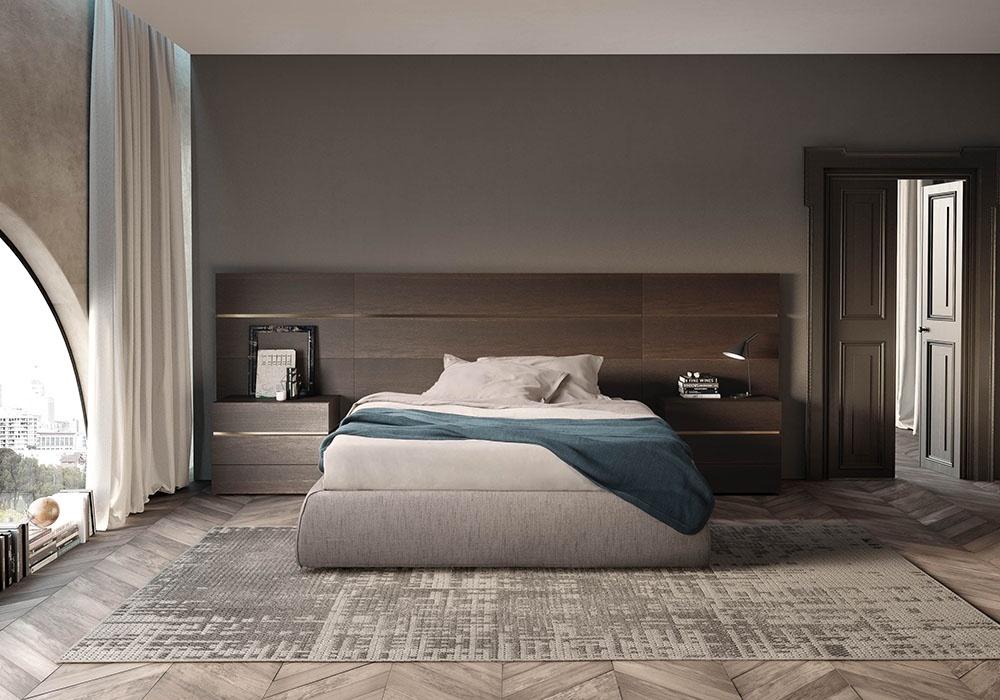 Cabecero para la cama en madera mate, hoteles | IDFdesign