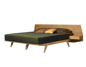 Giò 2887, Cama de madera con mesitas de noche integradas