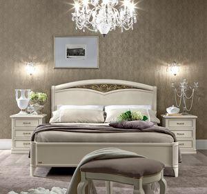 Nostalgia cama, Cama en acabado blanco antiguo