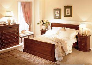 Romantica cama, Cama de madera, estilo clásico.