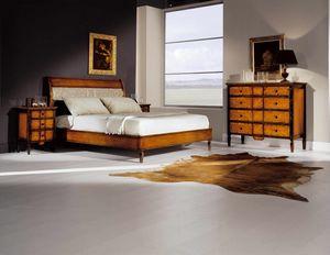 Sinfonia cama, Cama de madera, estilo clásico.