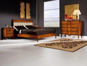 Sinfonia cama de nogal, Cama de madera estilo directorio