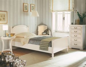 Villa Borghese cama individual 2370, Cama simple estilo directoire