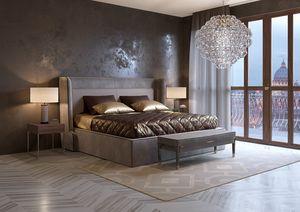 Divina cama, Cama tapizada en ecopiel vintage.