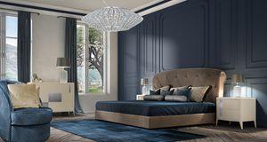 Gold Art. 6650_6653, Cama tapizada en cuero ecol�gico