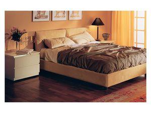 Bedroom 12, Cama acolchado, tapizado en alcántara extraíble, para los dormitorios residenciales