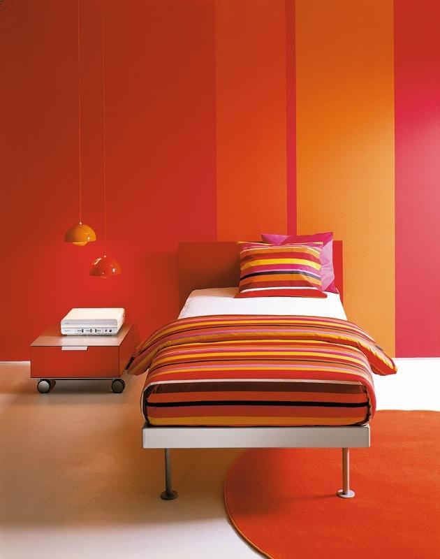 FILIPPO single, Cama individual, estilo minimalista, diferentes tamaños