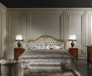 Art. 925 Cama Maggiolini, Maggiolini cama de estilo clásico, con cabecera acolchada
