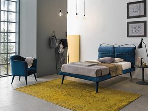 CORFÙ SD463, Cama tapizada moderna
