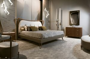 CRONO cama GEA Collection, Cama acolchada contemporánea