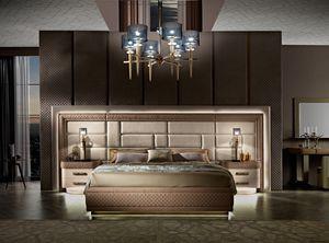 Diamond cama con pared empotrada, Cama con cabecero grande