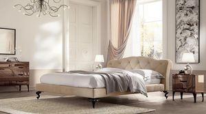 George bajo cama, Cama con cabecero acolchado, cubierta personalizable