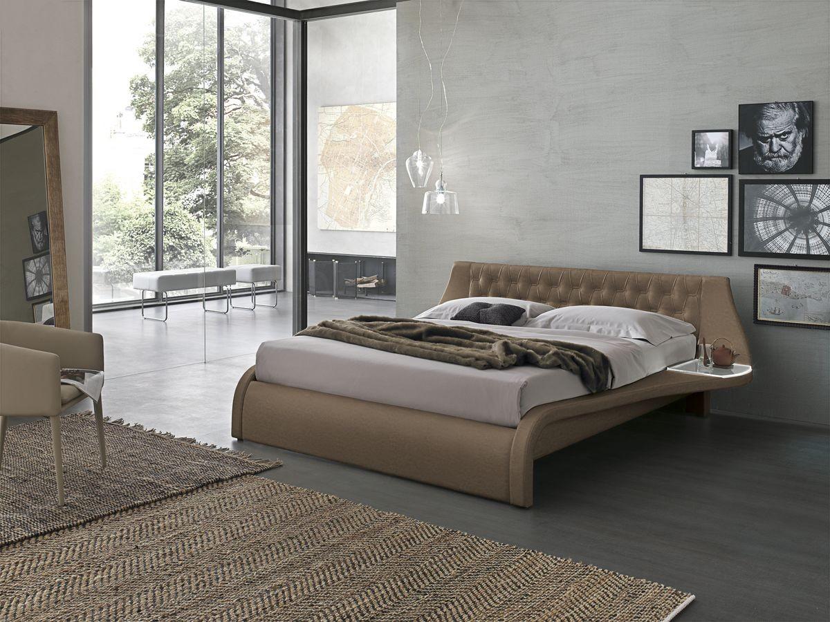 Cama doble con cabecera tapizada para dormitorios modernos   IDFdesign