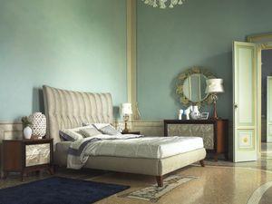Grand Etoile Art. GE015/A/L, Cama tapizada con cabecero importante