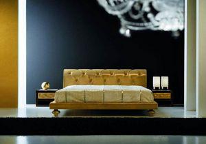 Joyce cama, Cama clásica con cabecera tapizada