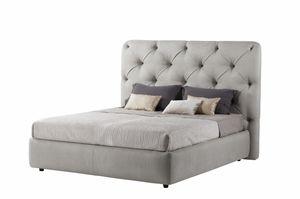 Lancaster cama, Cama totalmente acolchada, con cabecero capitonnè