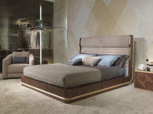 LE26 Galileo cama, Cama doble, cabecero tapizado, para los dormitorios