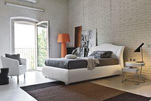 MADDALENA SD438, Cama tapizada doble semi- adecuado para dormitorios modernos