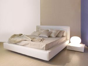 Master, Estilo de la cama moderna simple con marco ancho