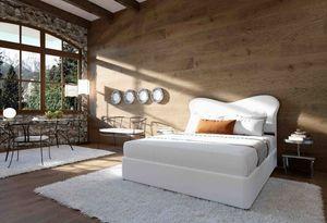 Monroe, Clásico cama tapizada doble ideales para habitaciones de hotel