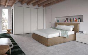 Piumotto, Cama de estilo moderno, con cabecero y armaz�n de la cama acolchado