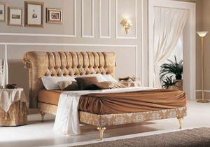 PRINCIPE capitonné cama, Cama clásica con cabecero abotonado