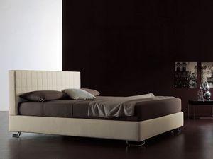 Tender, Cama moderna, cabecero acolchado, para el dormitorio