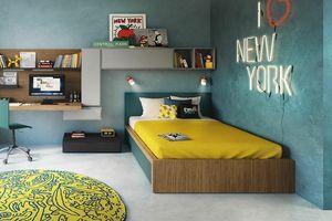 Tom acolchado, Cama tapizada para dormitorio infantil