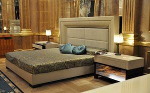 Vip cama, Cama con cabecero tapizado y estructura.