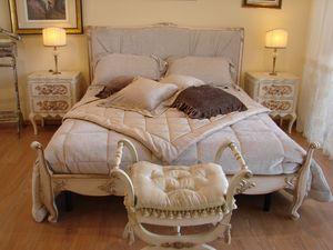 Abbon, Cama clásica para habitaciones de hotel, de estilo Luis XV