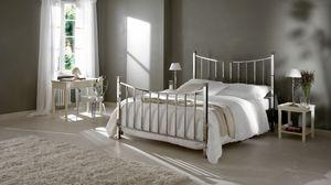 Alan cama, Cama doble en hierro curvado y pulido a mano