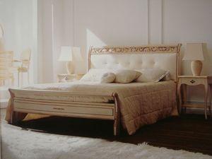 Art. 1800, Cama doble, clásico, tallado, para el dormitorio