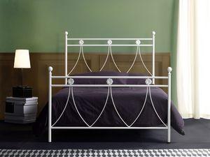 Crystal 120, Cama de metal individual para los dormitorios clásicos